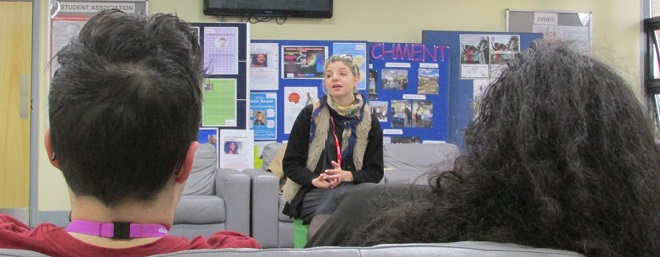 Karolina Partyga training students at Hackney Community College