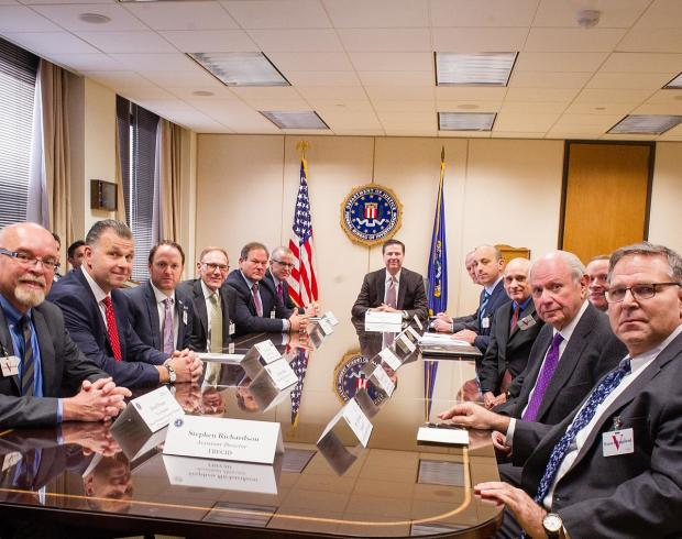 Director Comey and Senior FBI Executives by FBI, Public Domain